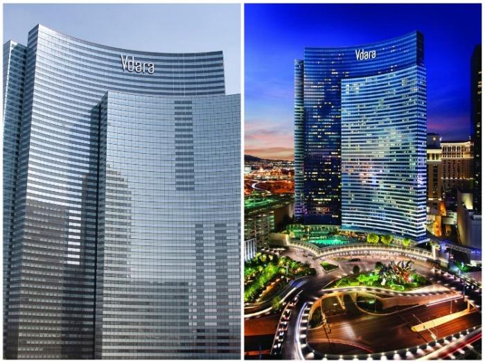 176 метровый отельный комплекс Vdara Hotel & Spa at ARIA Las Vegas (США). | Фото: vdara.mgmresorts.com.
