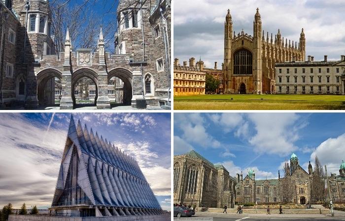Университетские здания зачастую считаются главными достопримечательностями страны.