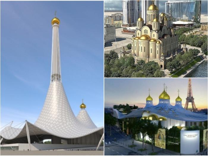 Многие архитектурные формы храмовых сооружений вызывают протест и недовольство.
