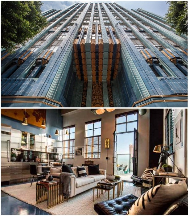 В Eastern Columbia Building оформлены роскошные пентхаусы, которые продаются по баснословной цене (Лос-Анджелес, США). | Фото: bigbucks.com.ua.