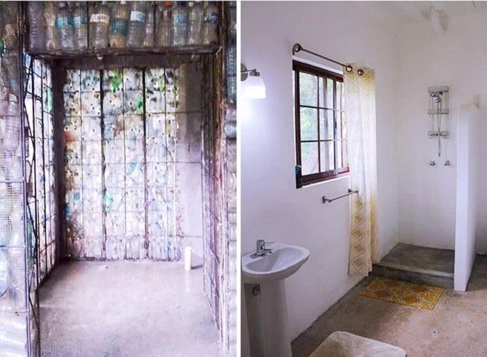 В пластиковом доме создано все для комфортного проживания (Plastic Bottle Village, Панама). | Фото: lifter.com.ua.