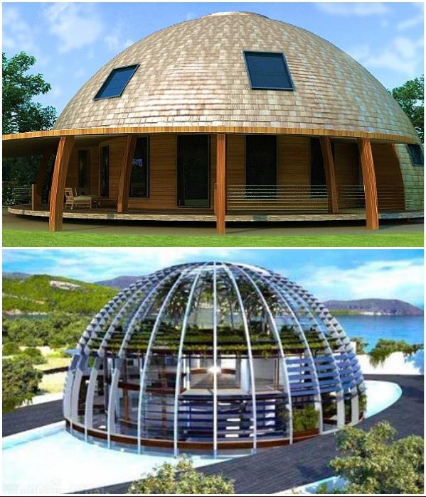Ультрасовременные купольные дома завоевывают все большую популярность. | Фото: lavang.ru/ drive2.ru.