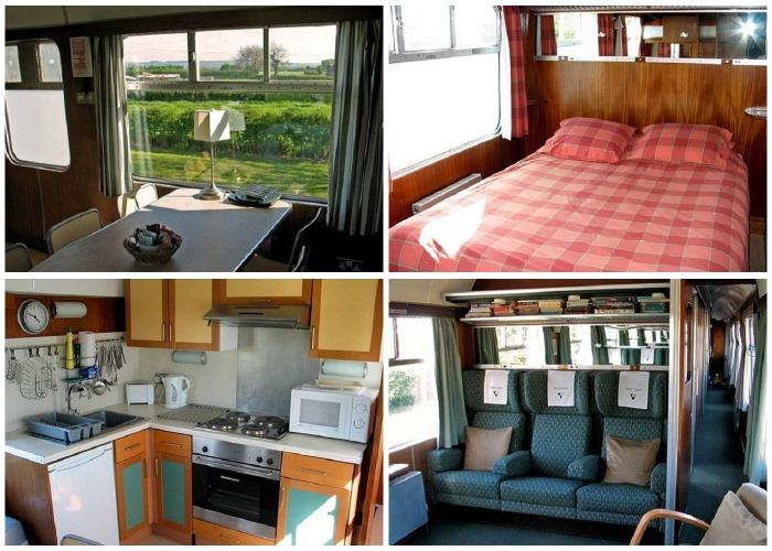 Интерьер номеров-вагонов гостевого дома для семейного отдыха Станция отдыха.