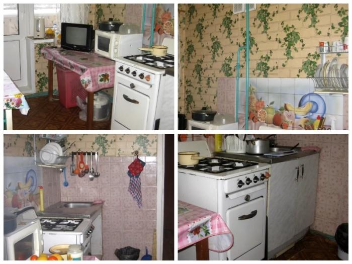 Так выглядела кухня мамы, которую решили полностью обновить. | Фото: youtube.com.