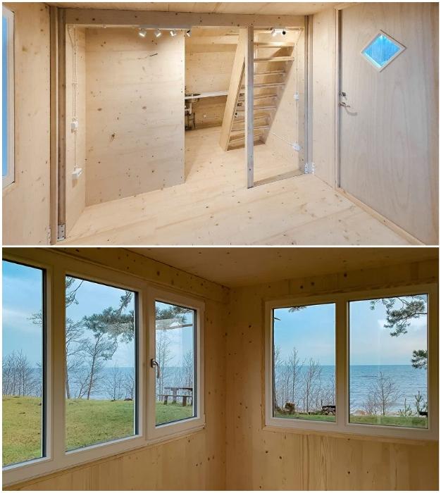 Складывающийся дом создан из экологически чистых натуральных материалов и готов к немедленному заселению (Brette Haus).