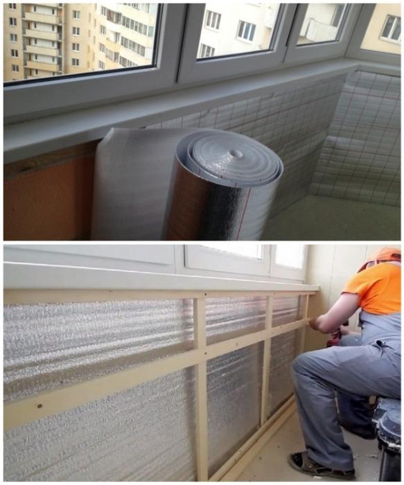 Лучший материал для пароизоляции балкона. | Фото: panokna.ru.
