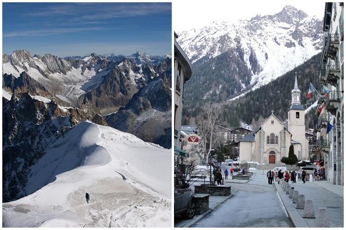 В Шамони лучшее внетрассовое катание во всех Альпах(Франция).
