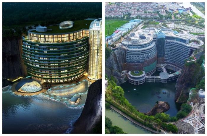 Для обеспечения отеля электроэнергией и водой используют исключительно энергоэффективные и экологичные технологии (Songjiang InterContinental, Китай).