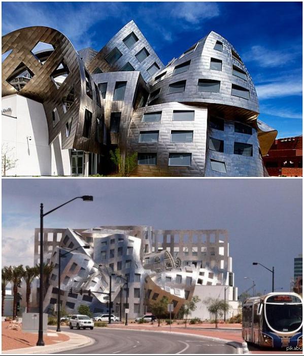Центр здоровья мозга Лу Руво в Лас-Вегасе спроектировал сам Фрэнк Гери. | Фото: hospitalbooking.com/ pikabu.ru.
