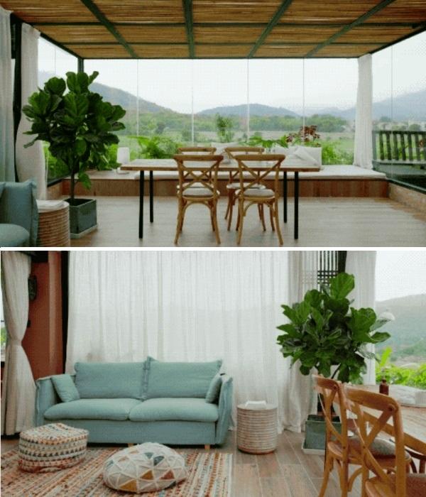 Огромная гостиная в общем доме 7 лучших подруг (Гуанчжоу, Китай). | Фото: chinatimes.com.