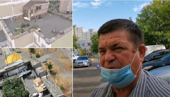 Председатель ЖСК Иван Басюк ничего плохого в таком дачном участке не видит.   Фото: youtube.com/ © Украина.РУ.