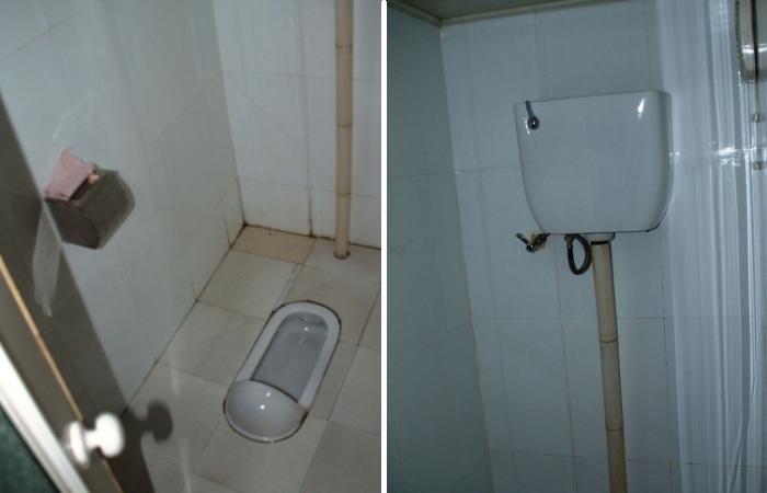 В большинстве квартирах Северной Кореи вместо привычных унитазов установлены чаши генуя. | Фото: vihrogon.bg.