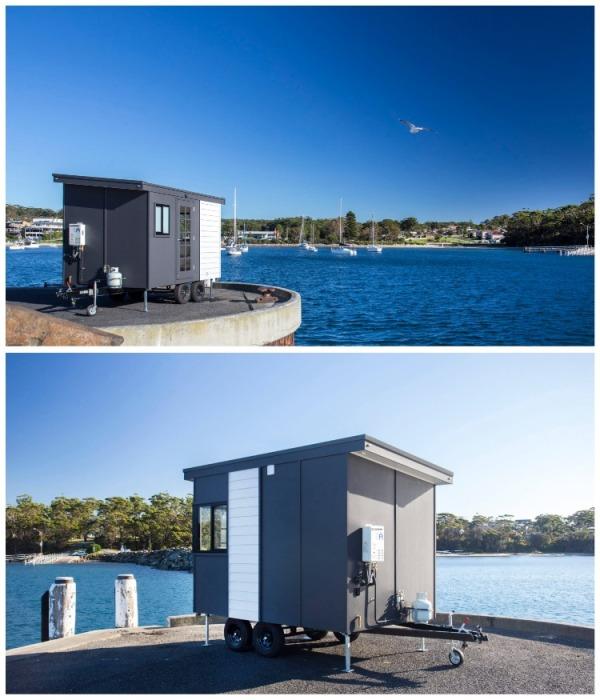 Крошечный дом-студия сделает отдых на природе незабываемым. | Фото: designerecotinyhomes.com.au.