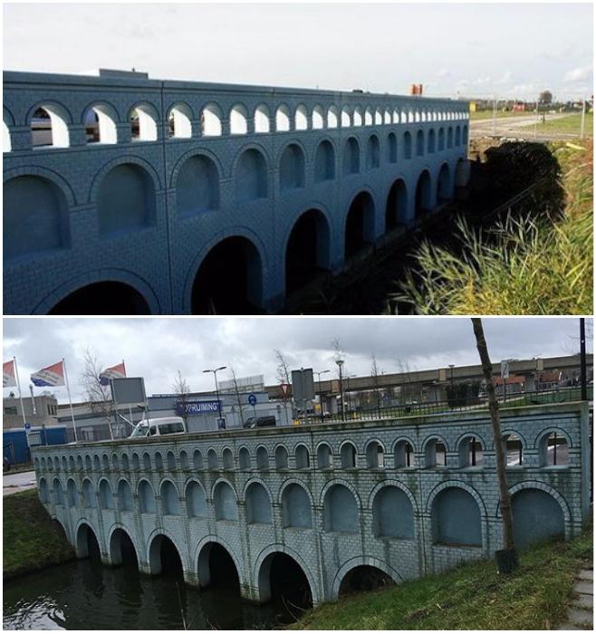 Оживший мост теперь соединяет противоположные берега устья Рейна в городе Спейкениссе (Голландия). | Фото: boredpanda.com/ m.fotostrana.ru.