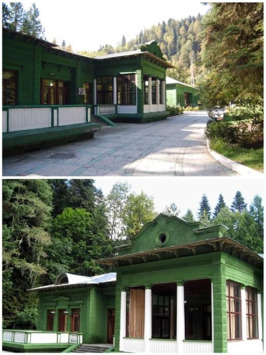 На озере Рица у Сталина была дача, построенная исключительно для отдыха (Абхазия). | Фото: news.rambler.ru.