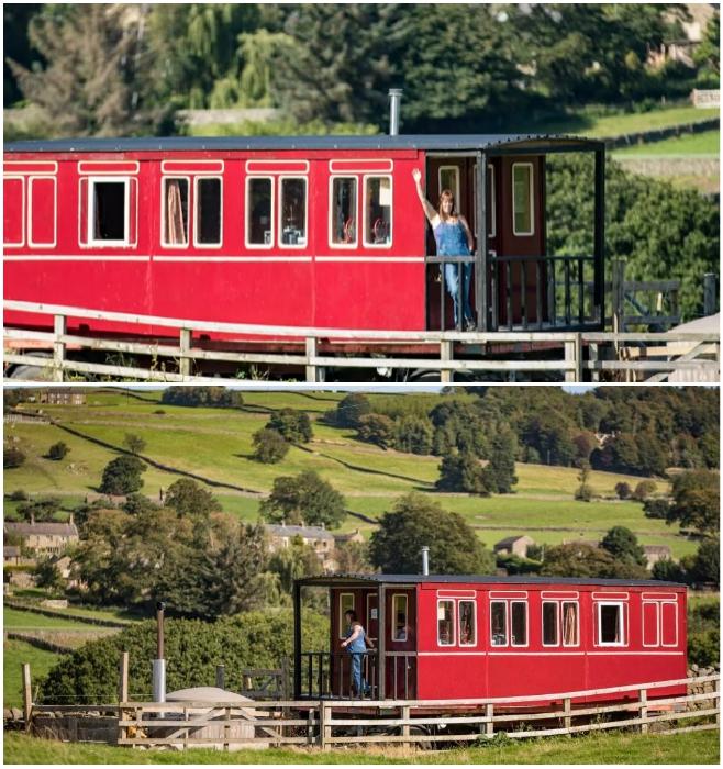 Эмма Хаммонд гордится тем, что самостоятельно построила отельный номер, который назвала «Flying Yorkshireman» (Харрогейт, Великобритания). | Фото: nastroy.net/ metro.co.uk.