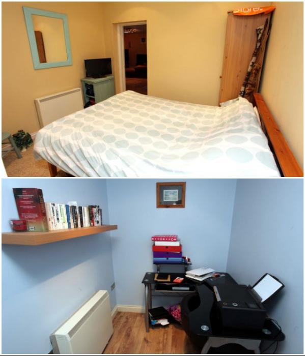 В подземном доме есть спальня и рабочий кабинет. | Фото: dailymail.co.uk.