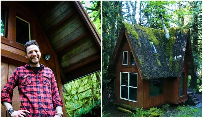 Американский художник решил воплотить детскую мечту, теперь у него в лесу есть собственный сказочный домик. | Фото: livingbiginatinyhouse.com.