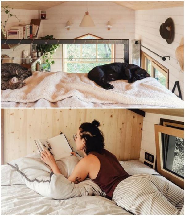Кровати в мини-апартаментах редко бывают пустыми. | Фото: boredpanda.com/ instagram.com, © vg.venus.