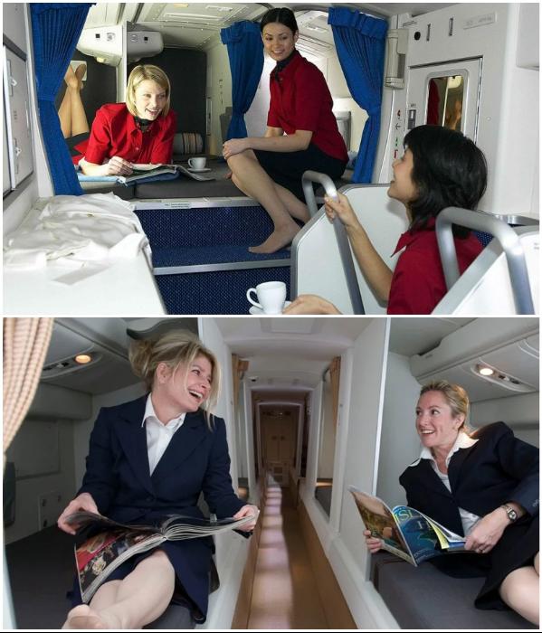Чтобы быть внимательными и приветливыми, стюардессам тоже нужно отдыхать. | Фото: businessinsider.in/ bigpicture.ru.