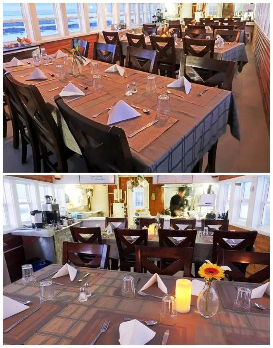 Уютная столовая в арктическом мобильном отеле Tundra Lodge  (Канада).
