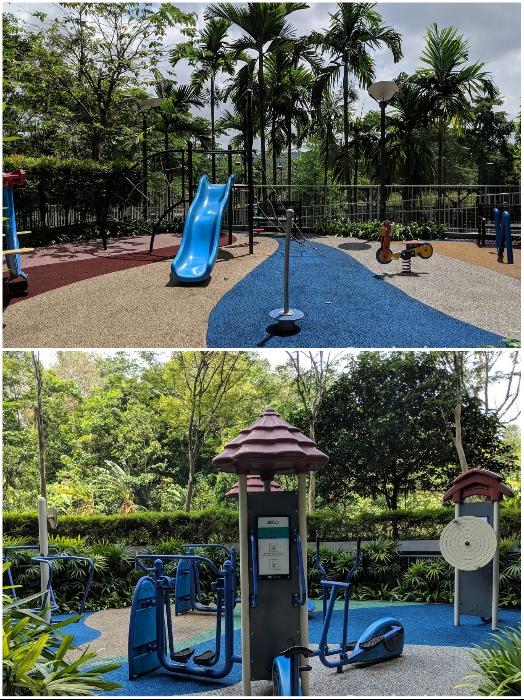 Открытые игровые площадки для детей и уличные тренажеры для взрослых были созданы для жильцов «Tree House» (Сингапур). | Фото: stackedhomes.com.