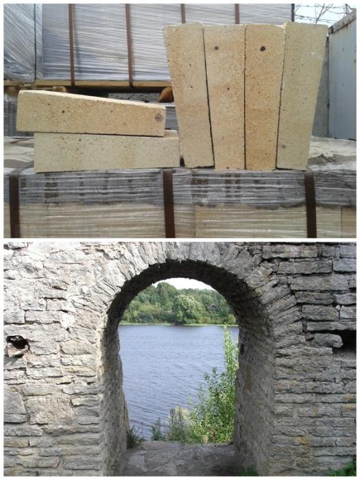 С помощью клиновидного кирпича или камня можно сделать сводчатый потолок и без цементного раствора. | Фото: pinterest.com.