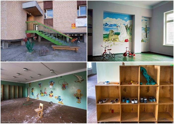 Детский сад спустя двадцать лет (Поселок Пирамида, Архипелаг Шпицберген).