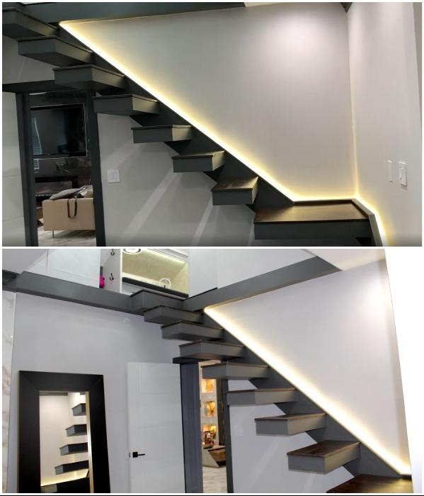 Самой большой проблемой стало создание консольной лестницы, ведущей на преображенный чердак. | Фото: instagram.com/ © remodelinganddesign.