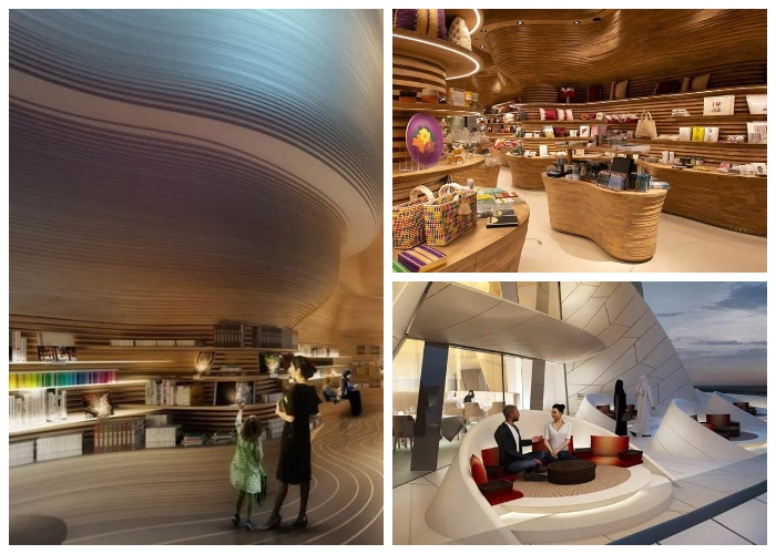 На территории Национального музея есть магазины, рестораны и уютные зоны отдыха (Доха, Катар). | Фото: pulsoslp.com.mx.