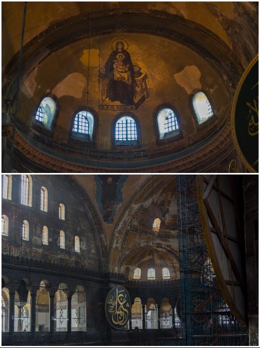 Много лет не прекращаются реставрационные работы в стенах музейного комплекса Айя Софии (Стамбул, Турция). | Фото: yashka7.blogspot.com.
