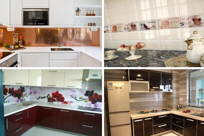 Для создания кухонного фартука можно использовать различные материалы.