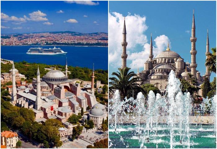 Великолепная каменная базилика была неотъемлемой частью древнего города на протяжении 1500 лет (Hagia Sophia, Стамбул).