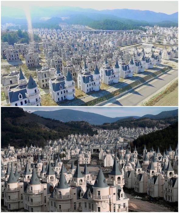 На данный момент почти 600 новеньких резиденций просто разрушаются (Burj Al Babas, Турия).