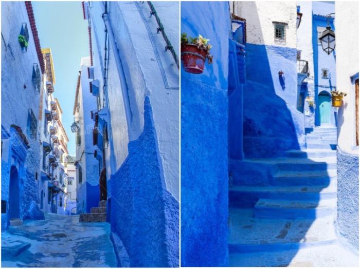 Узкие улочки города сохранили средневековое очарование (Шефшауэн, Марокко). | Фото: perisher-13.livejournal.com.