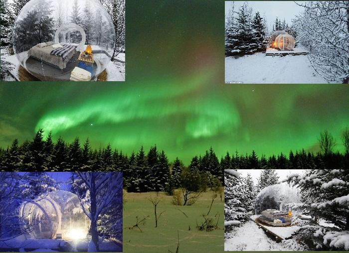 В таком отеле можно наблюдать Северное сияние, не вставая с кровати (The 5 Million Star, Исландия).