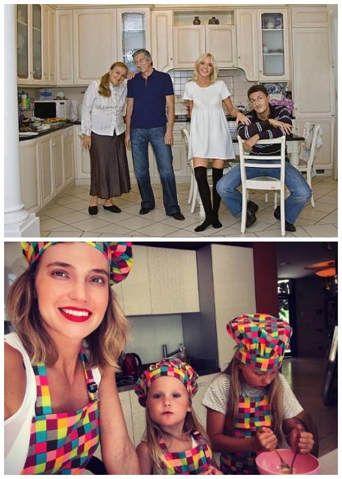 ГлюкoZа со своей семьей на кухне в загородном доме.