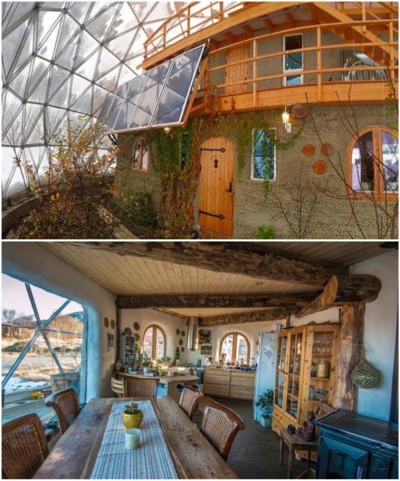 Так выглядит дом, который супруги-экспериментаторы построили собственными руками (Naturhuset, Норвегия). | Фото: naturhuset.blogg.no.