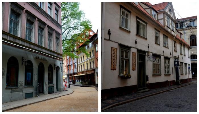 На этих улочках снимали сцены с легендарными советскими разведчиками Йоганном Вайсомом и Штирлицем (Рига, Латвия).