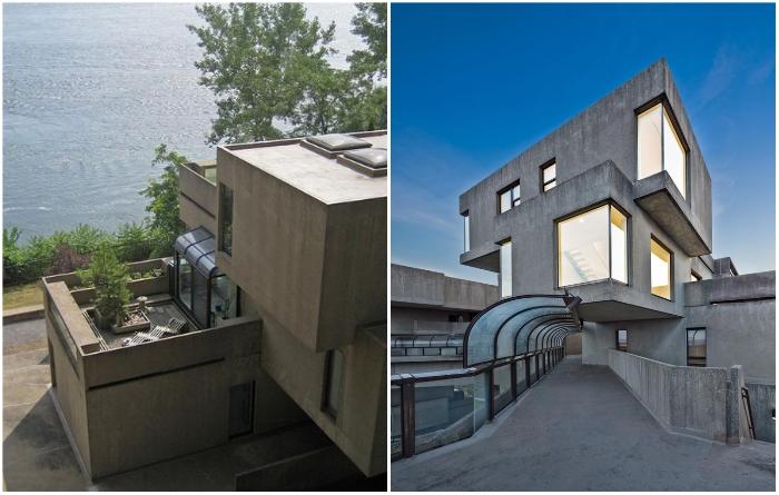 Особое расположение модулей позволило создать открытые переходы и балконы для общего пользования («Habitat 67», Монреаль). | Фото: focus-maison.com/ idealista.com.
