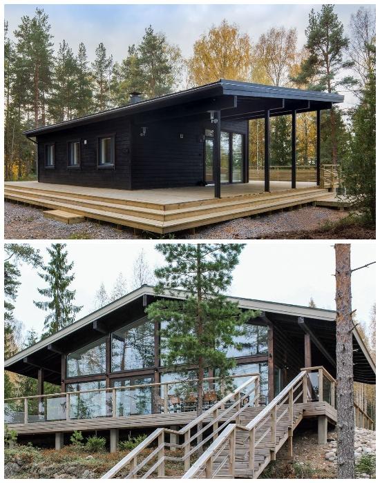 Дома компании Pluspuu Oy из клееного бруса – идеальный вариант для загородного дома.