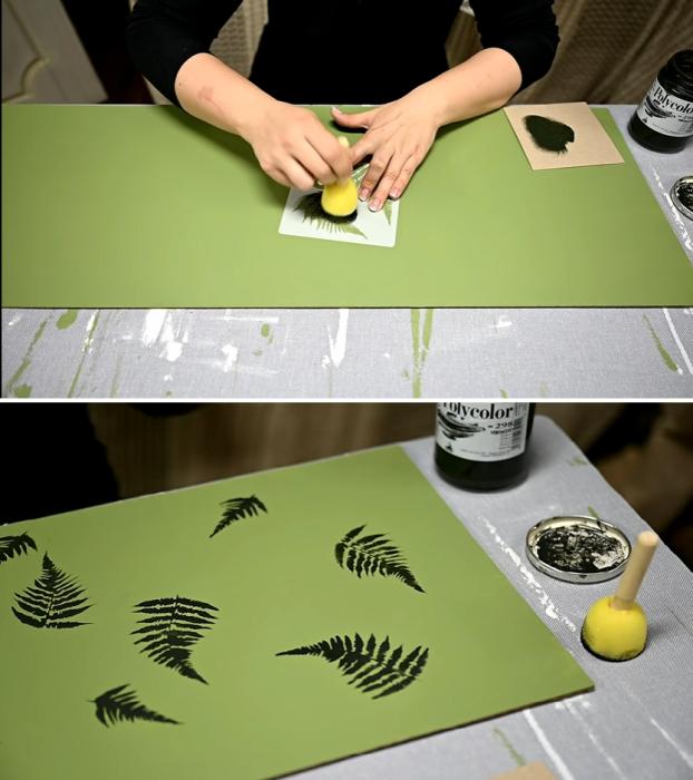 Оригинальные листики на дне ящиков станут приятным бонусом для мастерицы. | Фото: youtube.com / © My DIY life.