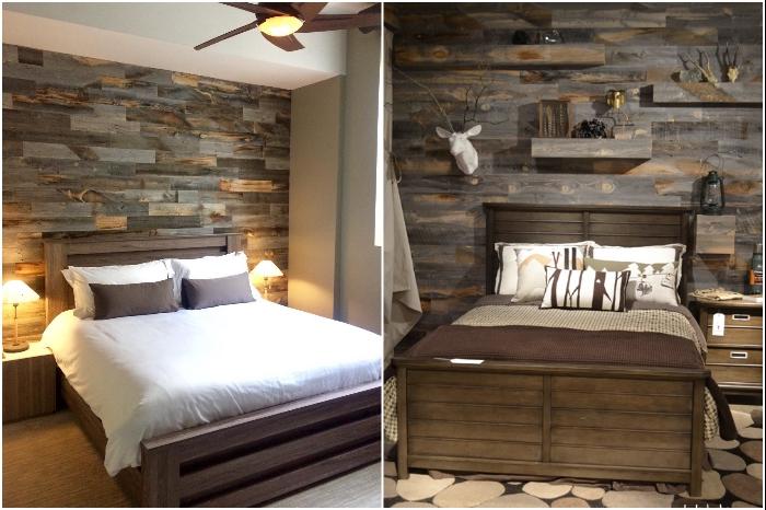 Акцентная стена из древесины поддонов одинаково хорошо смотрится и в загородном доме и в квартире. | Фото: feedpuzzle.com/ internetvswallet.com.