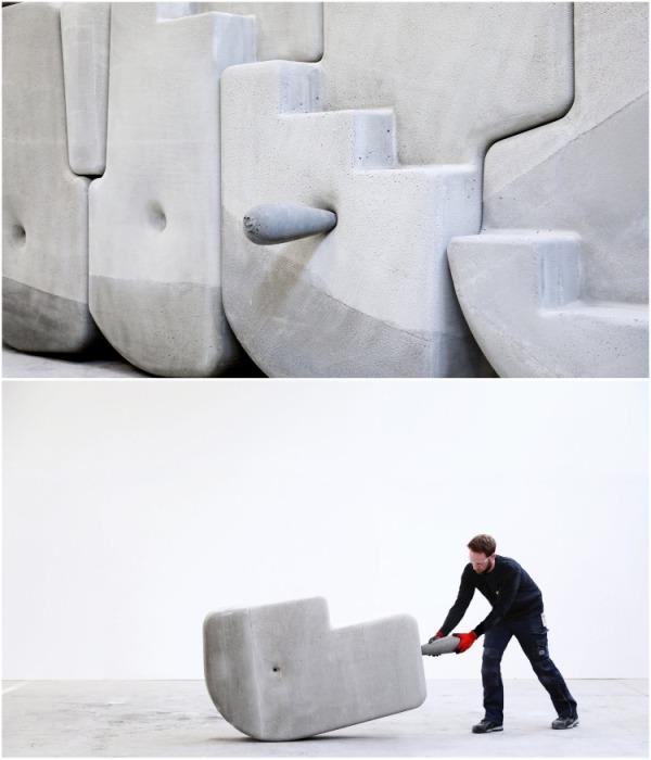 Отверстия в нужных местах и крепкая ручка помогает доставить камень в любое место. | Фото: matterdesignstudio.com.