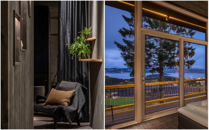 К услугам гостей обустроены небольшая гостиная и открытый балкон («Культурный ландшафт Эйны», Норвегия).