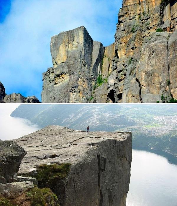 Прейкестулен - это один из самых популярных утесов в Норвегии с квадратной плоской вершиной (Preikestolen). | Фото: putidorogi-nn.ru.
