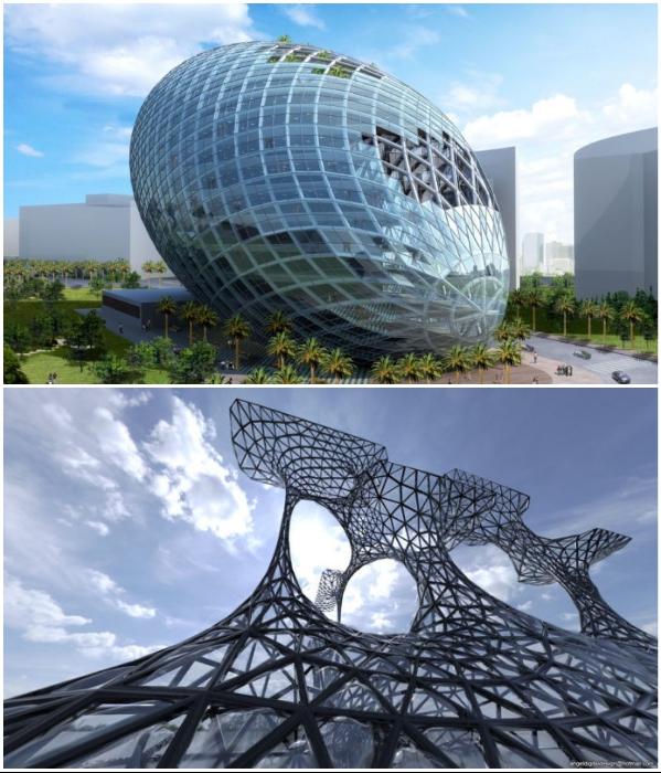 Параметрическая архитектура становится ведущим стилем в архитектуре будущего. | Фото: machined.house.