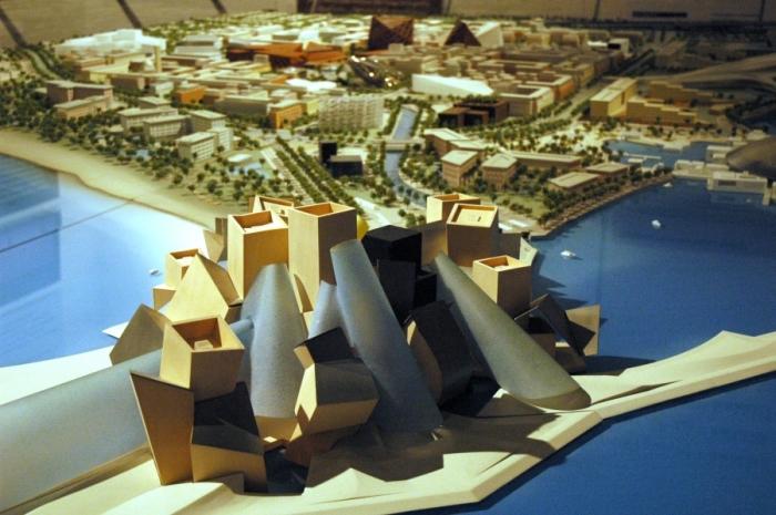 Проект Guggenheim Abu Dhabi Museum, разработанный Фрэнком Гери. | Фото: stroim.club.
