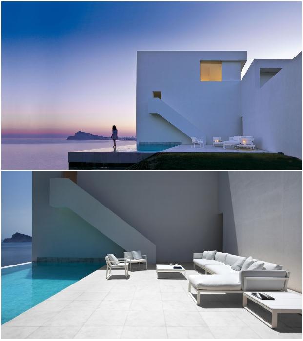 Нестандартная геометрия фасада и панорамный бассейн особняка Cliff House стали главным его украшением (Кальпе, Испания).