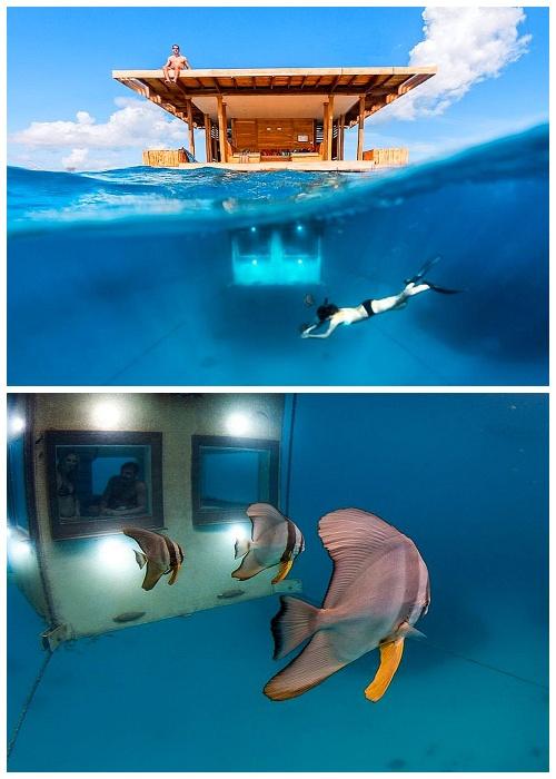 Курорт Manta, расположенный на острове Пемба в Занзибаре имеет подводный номер.